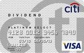 Apply online for Citi Dividend Platinum Select Visa Card - $100 Cash Back