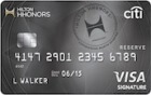 Apply online forCiti® Hilton HHonors™  Reserve Card