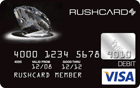 Rush Card - Black Diamond Prepaid Visa