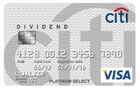 Citi<sup>&reg;</sup> Dividend Platinum Select<sup>&reg;</sup> Visa<sup>&reg;</sup> Card