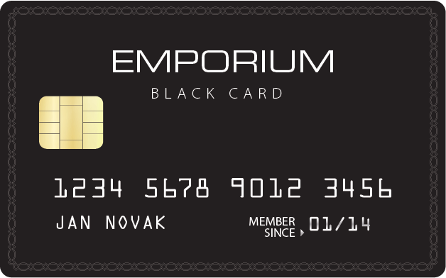 Apply online forEmporium Black Card