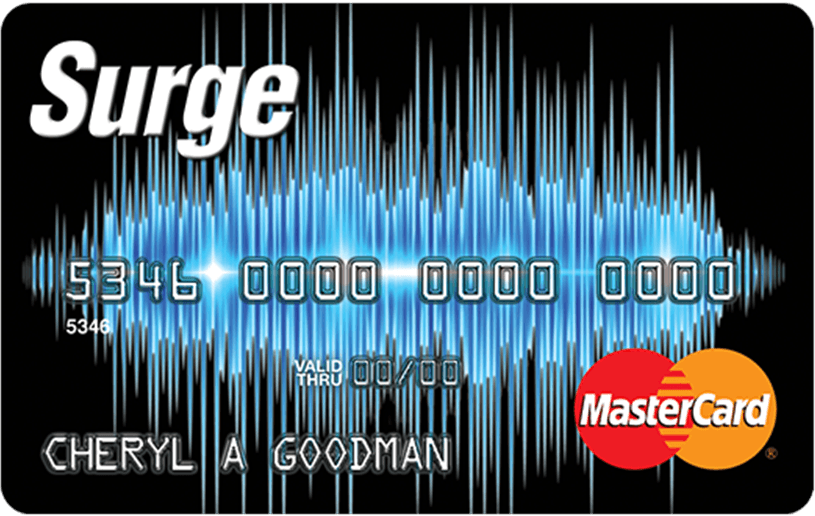 Apply online forSurge MasterCard® Credit Card