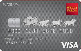 Apply online for Wells Fargo Platinum Visa® Card