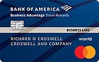 Apply online for Bank of America® Business Advantage Travel Rewards World Mastercard® credit card